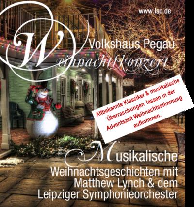 Weihnachtskonzert im Volkshaus Pegau
